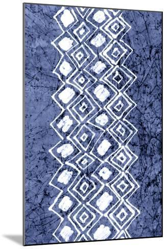 Indigo Primitive Patterns IV-Renee W^ Stramel-Mounted Giclee Print