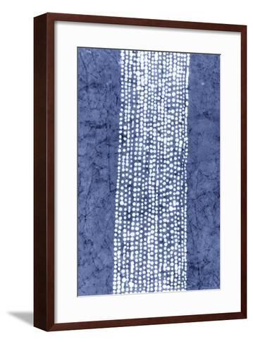 Indigo Primitive Patterns VI-Renee W^ Stramel-Framed Art Print