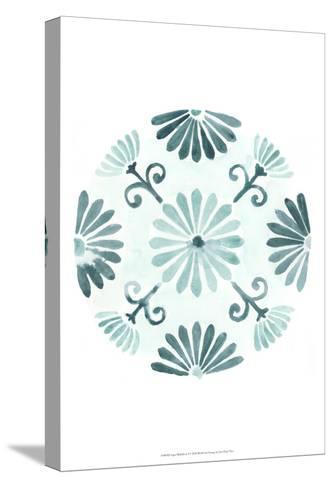 Aqua Medallions I-June Erica Vess-Stretched Canvas Print