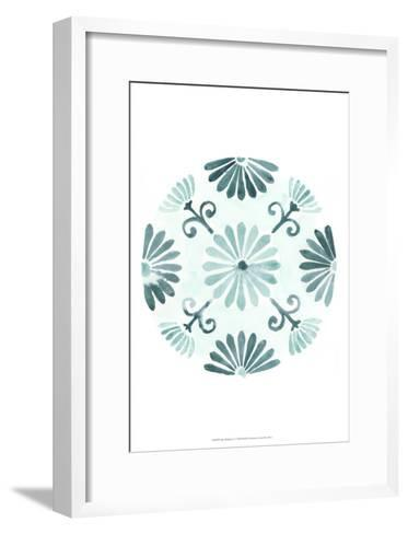 Aqua Medallions I-June Erica Vess-Framed Art Print