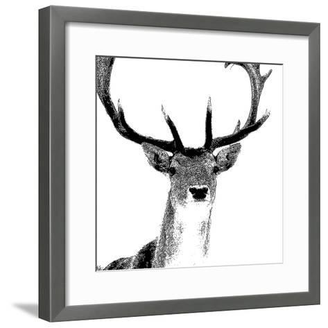 Forest Focus - Deer-Myriam Tebbakha-Framed Art Print