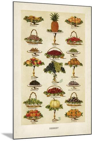 Vintage Dessert-The Vintage Collection-Mounted Giclee Print
