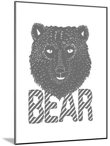 Linear - Bear-Myriam Tebbakha-Mounted Giclee Print