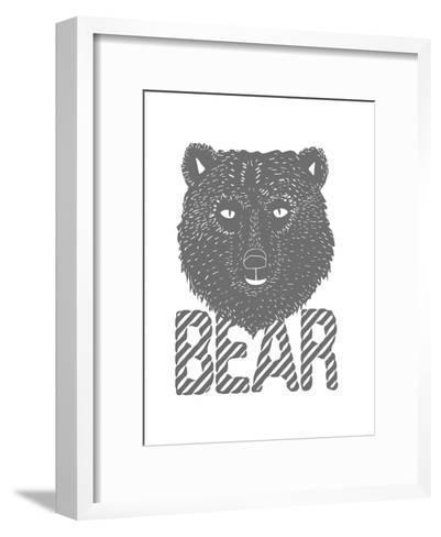Linear - Bear-Myriam Tebbakha-Framed Art Print