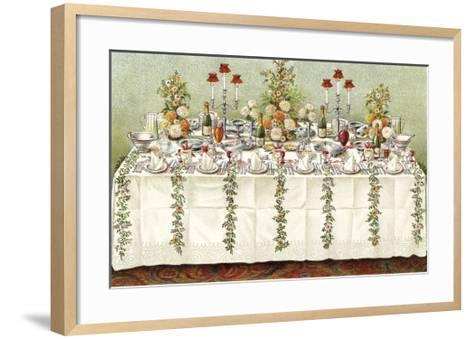 Table Settings - Buffet-The Vintage Collection-Framed Art Print