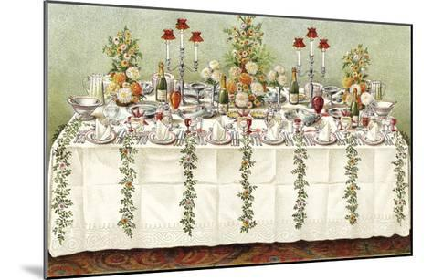 Table Settings - Buffet-The Vintage Collection-Mounted Giclee Print