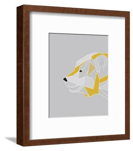 Origami Bear - Profile-Myriam Tebbakha-Framed Art Print