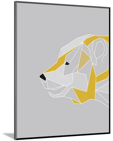 Origami Bear - Profile-Myriam Tebbakha-Mounted Art Print