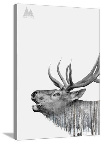 Deer-Clean Nature-Stretched Canvas Print
