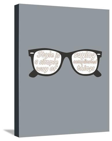 Glasses-GraphINC-Stretched Canvas Print