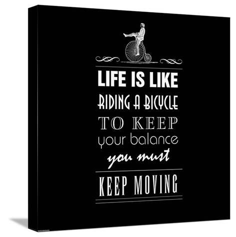 Life Is Like-GraphINC-Stretched Canvas Print