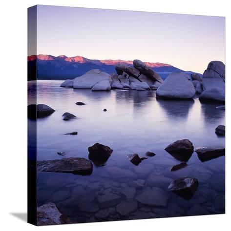 Purple Rocks-PhotoINC Studio-Stretched Canvas Print