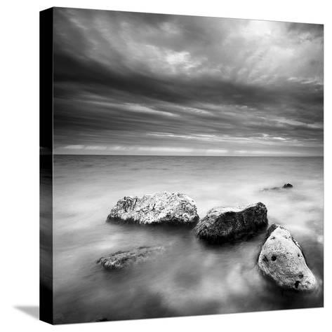 Waves on Rocks-PhotoINC Studio-Stretched Canvas Print