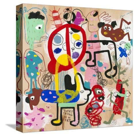 Look (everything is here)-Joi Murugavell-Stretched Canvas Print