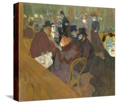 At the Moulin Rouge, 1892-95-Henri de Toulouse-Lautrec-Stretched Canvas Print