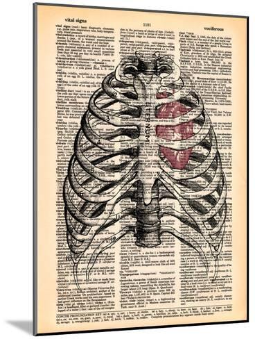Sternum & Heart- Book Dictionary Art-Mounted Art Print