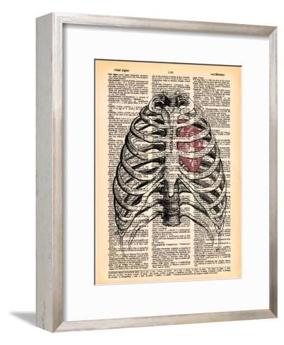 Sternum & Heart- Book Dictionary Art-Framed Art Print