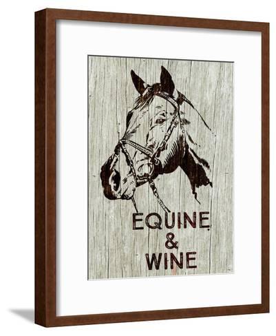 Equine & Wine-Brandi Fitzgerald-Framed Art Print