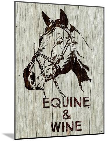 Equine & Wine-Brandi Fitzgerald-Mounted Art Print