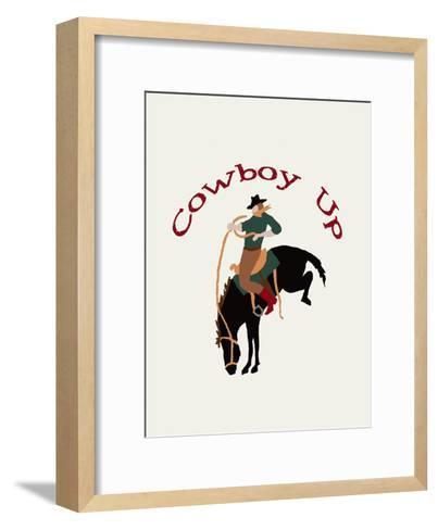 Cowboy Up-L Megroz -Framed Art Print