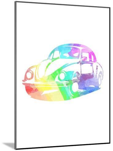 Vw Beetle-Indigo Sage Design-Mounted Art Print