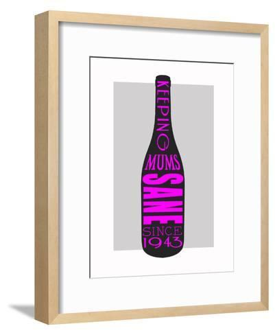 Wine Keeping Mums Sane-Indigo Sage Design-Framed Art Print