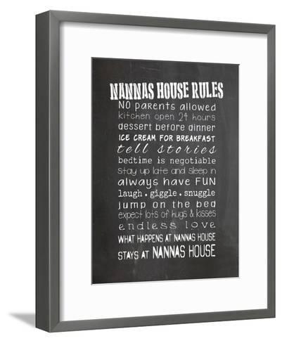 Nannas House Rules-Indigo Sage Design-Framed Art Print