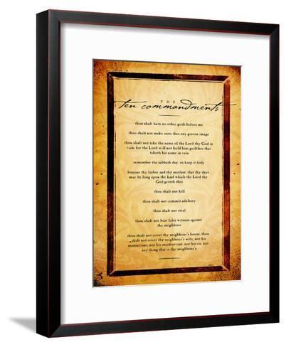 Ten Commandments-Dallas Drotz-Framed Art Print