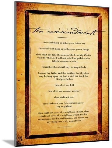 Ten Commandments-Dallas Drotz-Mounted Art Print
