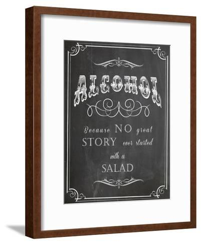 Alcohol Salad-Indigo Sage Design-Framed Art Print