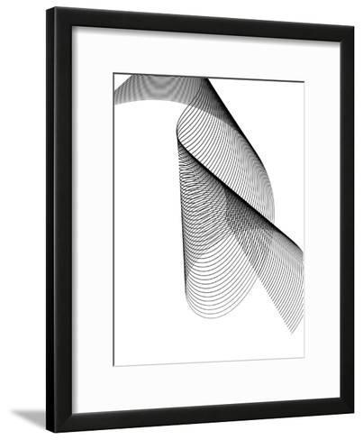 Line Swirl 2-Indigo Sage Design-Framed Art Print