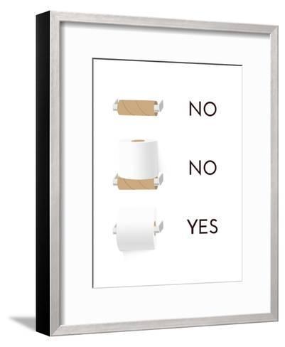 Toilet Paper-Indigo Sage Design-Framed Art Print