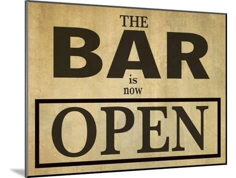Bar Is Open-Grafittee Studios-Mounted Art Print