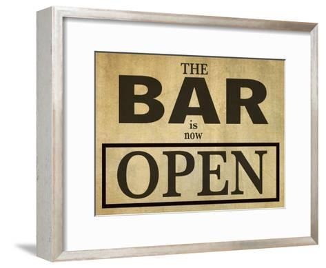 Bar Is Open-Grafittee Studios-Framed Art Print