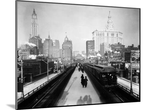 Brooklyn Bridge East River-HA Dunne-Mounted Art Print