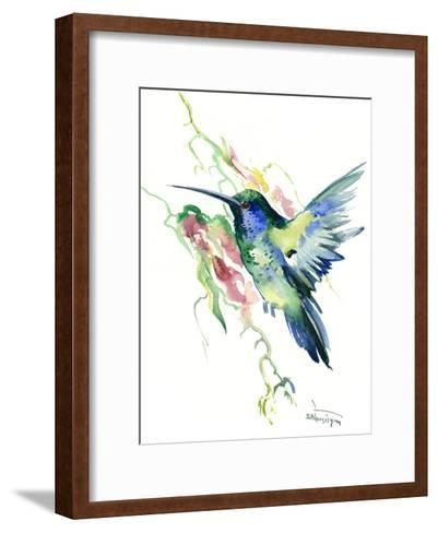 Hummingbird Indigo-Suren Nersisyan-Framed Art Print