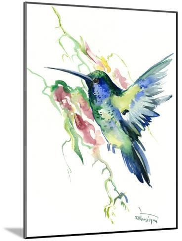 Hummingbird Indigo-Suren Nersisyan-Mounted Art Print