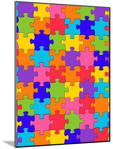 Colorful Puzzle Style-Wonderful Dream-Mounted Art Print