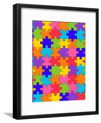 Colorful Puzzle Style-Wonderful Dream-Framed Art Print