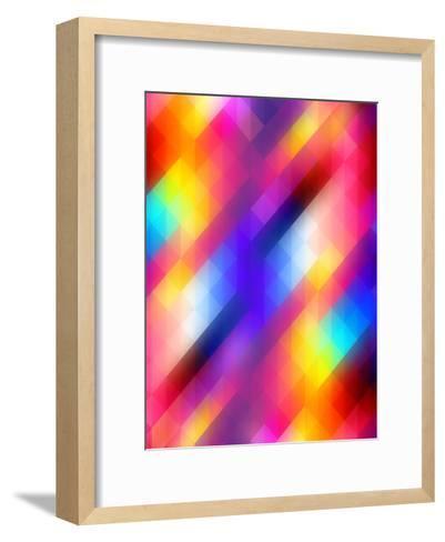 Spacy Colorful Design-Wonderful Dream-Framed Art Print