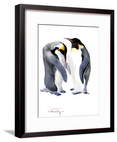 Emperor Penguins-Suren Nersisyan-Framed Art Print
