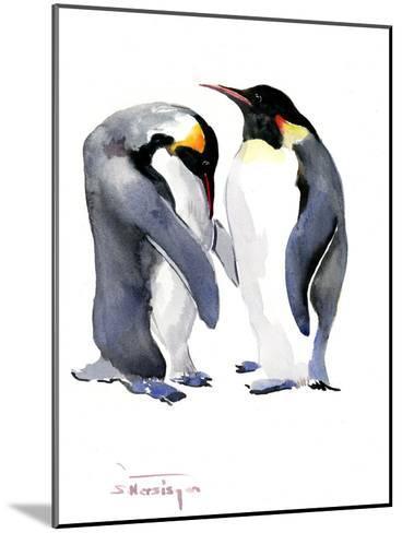 Emperor Penguins-Suren Nersisyan-Mounted Art Print