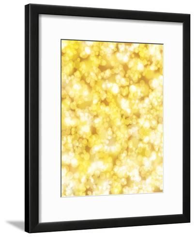 Golden Sparkly Shiny-Wonderful Dream-Framed Art Print