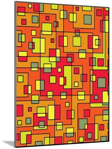 Square Pattern Design-Wonderful Dream-Mounted Art Print