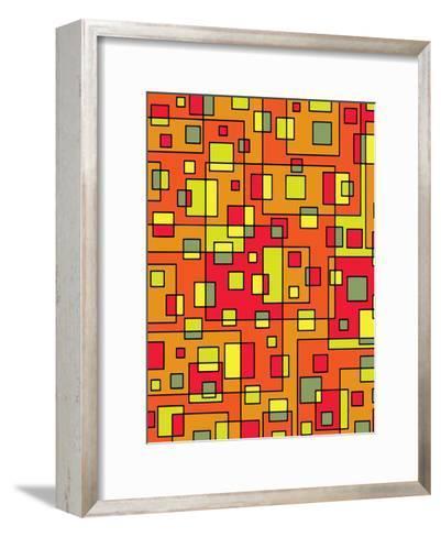 Square Pattern Design-Wonderful Dream-Framed Art Print
