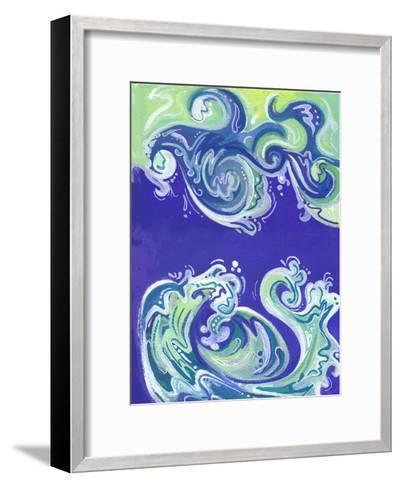 Waves Illo-Cara Kozik-Framed Art Print