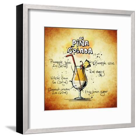 Pina Colada Cocktail-Wonderful Dream-Framed Art Print