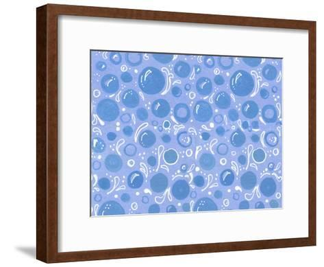 Bubbles Waves-Cara Kozik-Framed Art Print