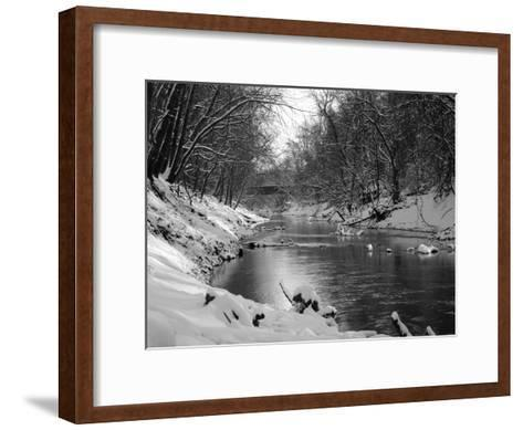 Below The Bridge-Mark Polege-Framed Art Print