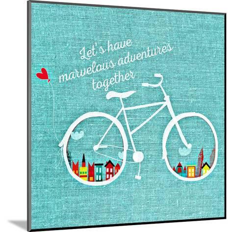 Adventure Bike-Wonderful Dream-Mounted Art Print